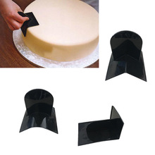 Three Styles Of Cake Corner Wiping Mold Plastic Fondant Tools Mold Kitchen Baking Mold Sugar Craft Fondant Cake Tools Cake Mold(China)