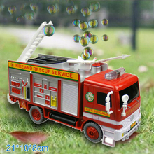 Free shipping Baby toy car electric bubble car toy fire truck automatic bubble machine band music car toys