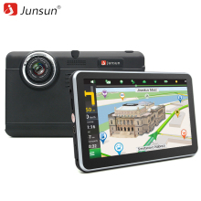 Junsun 7 inch Car DVR GPS Navigation Android tablet pc Bluetooth wifi fhd 1080p Camera Recorder Vehicle gps automobile navigator(China)