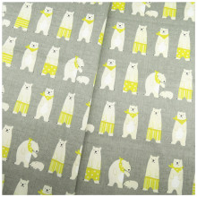 New Arrival Cartoon Bear Gray Yellow Twill Cotton Fabric DIY Patchwork Sewing Kids Bedding Bags The Cloth Textiles Fabric