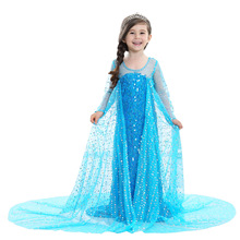 Halloween Costumes for Kids Cartoon Characters Children Parties Outfits Promotion High Quality Girls Princess Anna Elsa Costume(China)