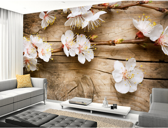 Custom floral wallpaper,Spring Blossom,3D photo for living room bedroom kitchen restaurant background wall waterproof wallpaper<br>