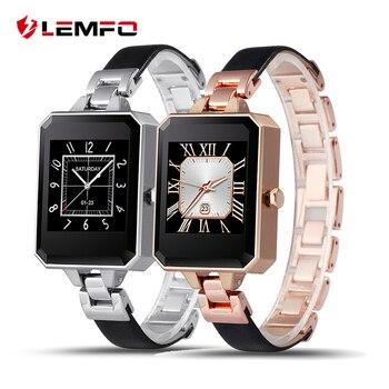 Lemfo lem2 elegante warch mujeres mujer bluetooth smartwatch con monitor de ritmo cardíaco