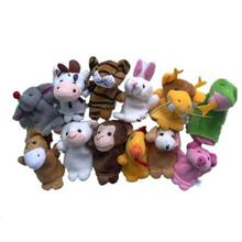 12pcs Animal Finger Puppet Plush Child Baby Early Education Toys Gift Finger toy Puppets baby toy #YL(China)