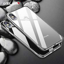 Buy USLION Phone Case iPhone X Transparent Ultrathin Clear Back Cover Slim Hard PC Full Back Cover Capa iPhoneX 10 for $1.18 in AliExpress store