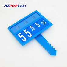 POP Promotion Price Sign Display Posted Label Card Plastic Holder Frame L by Oblate Pin Replaceable in Supermarket 600sets(China)