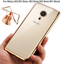 Luxury Rose Gold Plating Crystal Clear TPU Case for MEIZU M3 M2 M5 Note Soft Back Cover for Meizu M5 M3 M3S Mini Silicone Cases