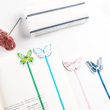 1PCs Cute Candy Color Butterfly Magnetic Bookmark Long Tail Ribbon Stationery Student School Office Gift M0118