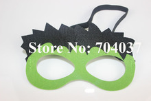 (20 pieces/lot) New birthday party supplies Kids costume felt masks Fancy Hulk mask