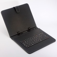 Free Shipping Leather Case Russian and English Keyboard for 7 inch Tablet PC use(China)