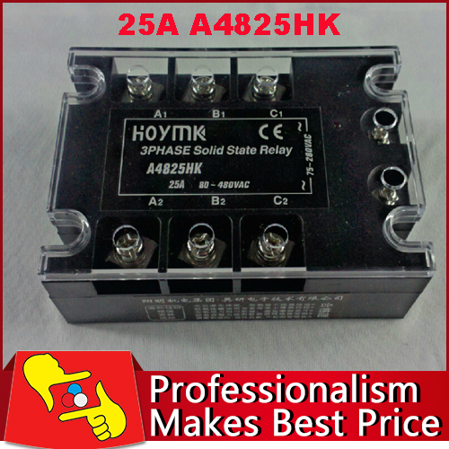 universal 25A 3 Phase AC Solid State Relay SSR3 A4825HK Electronic Switch free shipping<br>