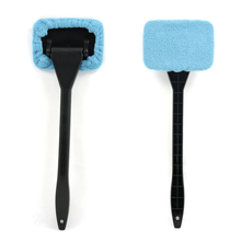 Microfiber Long Handle Window Cleaner Car Wash Brush Dust Car Care Windshield Shine Cloth Handy Car Cleaning Brush ME3L