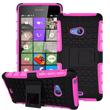 High Quality New Armor Dual Layer Grip Rugged TPU Skin Hard Stand Smart phone cases for Nokia Microsoft Lumia 540