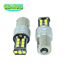 10pcs S25 1156 BA15S BAU15S 15 SMD 2835 LED 250MA 1157 BAY15D Auto Brake Turn signal Light Bulb lamp White Red Blue Yellow 12V(China)
