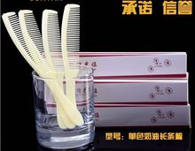 Free Shipping 100pieces/lot 100%New Plastic Disposable Comb with Beautiful Box set Hotel or Family Traveling Amenities(China)