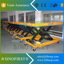 2 Tone Stationary Scissor Electric Lift Tables