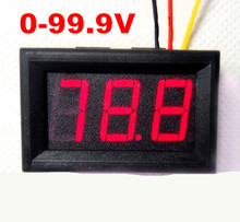 Red LCD Digital Display Voltmeter Voltage tester volt Meter Panel suitable for different occasions DC 0-100V 59% OFF