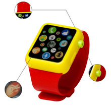 Machine Kids Children Smart Watch Early Education 3D Touch Screen Music Smart Watch Learning Machine ABS Wristwatch Toy(China)