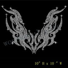 Free shipping Motorcycle Rhinestone iron on Bling Transfer(China)