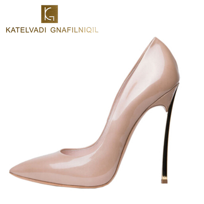 Brand Shoes Woman High Heels Women Pumps Stiletto Heeled Shoes For Women High Heels Pointed Toe Nude Wedding Shoes Big Size 43<br>