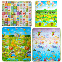 180x 150cm New Baby Double-Side Play Mat Kid  Crawl Play Game Picnic Carpet Letter Alphabet Climb Blanket Crawling Pad