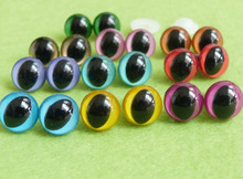 40pcs/lot new arrvial 12mm toy cat eyes plastic safety eyes with white washer for diy doll accessories---10 colors option(China)