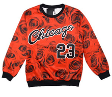Chicago Jordan 23 letter brooklyn carter print 3d sweatshirts rose floral sportswear fashion hoodies women/men Free shipping(China)