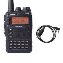 UV-8DR Tri-Band Walkie Talkie 136-174/240-260/400-520mhz CB RadioTransceiver Ham Radio Commnicater Sister Yaesu+Cable Talkie