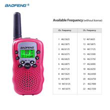 A Pair Portable Kids Child 3km Baofeng BF-T3 CB Radio For Uhf Frequency Radio Station Ham Two Way Radio Small Mini Walkie Talkie
