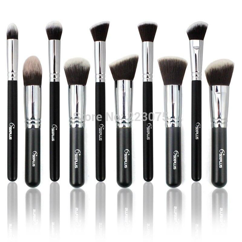New 10 PcsProfessional Makeup Brush Set Eyeshadow Foundation Cosmetic Brush tool Kit gift<br>
