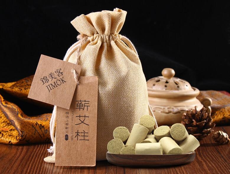Free shippingQi AI Zhuchun moxibustion moxa Moxa Moxibustion gynecological Qing Li Shizhen section leaves<br>