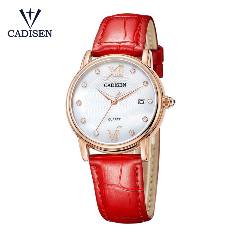 CADISEN 2017 Fashion Quartz Watch Women Girl Roman Numerals Leather Band Wrist Bracelet Watches Montre Femme Birthday Gifts<br>