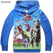 SAILEROAD 4 to 9years  Dinosaur children boys outerwear clothing kids baby boys outerwear clothes Autumn garments
