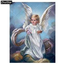 Fly Girl diamond painting Portrait Series diamond embroidery Angel 3d square diamond mosaic icons full embroidery rhinestone xsh(China)