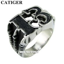 Punk 316L Stainless Steel Soft Enamel 13 Number Claw Biker Ring For Man Motorcycle Thirteen Ring Jewelry(China)