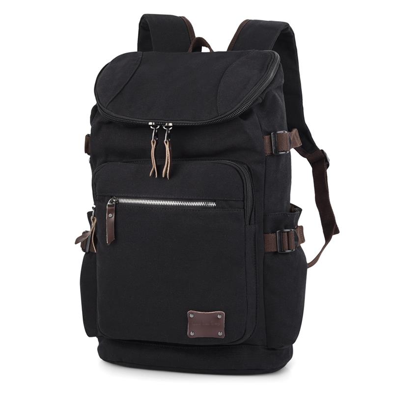 6a658047f5 Vbiger Mens Newest Canvas Backpack Large Capacity Traveling Rucksack ...