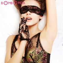 Buy Sexy Lace Blindfolds Fetish Flirt Erotic Toys men Woman Sleeping Eye Mask Adult game couples Sex Blindfold Mask O2