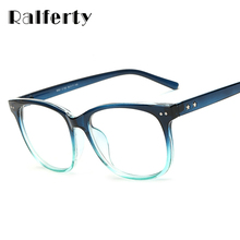 Ralferty Vintage Fashion Transparent Glasses Frame With Clear Lens For Myopia Glasses Women Men Star Retro Eyeglasses Oculo 8081