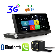Udricare 7 inch 3G SIM Card Dashboard Android 5.0 WiFi Bluetooth GPS Dual Lens FHD1080P 1GB RAM Rear View Camera Internet DVR(China)