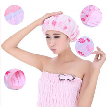 Thick Waterproof Elastic Band Hat Hair Bath Double deck Shower Spa Cap Suction superfine fiber dry hair nutrition hair oil cap(China)