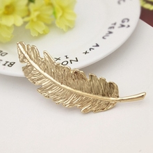 Creative Metal Leaf Shape Hair Clip Barrettes Crystal Pearl Hairpin Fashion Barrette Hair Accessories