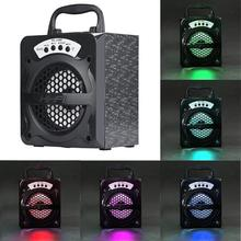 Outdoor Bluetooth Wireless Portable Speaker Super Bass with USB/TF/AUX/FM Radio Music Stereo Loudspeaker for Laptop Mobile Phone