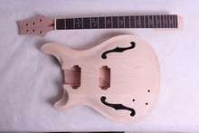 one set left NEW guitar and body mahogany made and maple top  rose wood fingerboard F hold