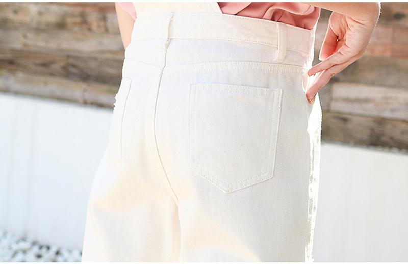 Denim Jumpsuit Women Solid Hole Jeans Jumpsuit Rompers Women Korean Fashion Suspender Monos Largos Mujer Pantalon Largo Overalls 18 Online shopping Bangladesh