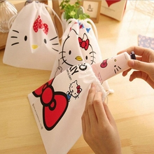 Cartoon Hello Kitty Waterproof Travel Cosmetic Makeup Bag Pouch Toiletry Storage Organizer Wash Case For Women Men