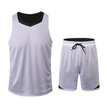 New Double-sided Mesh Basketball Sets Men Women Athletic Jersey Competition Team Uniform Training Tracksuit Breathable Quick-dry(China)