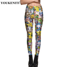 YOUKENITI High Quality Lowest Price Cartoon Pattern 3D Digital Print 4XL Plus Size Women Pants Casual Workout Women Leggings(China)