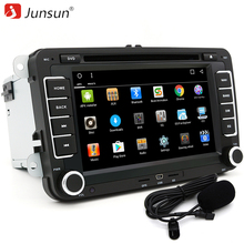 "Junsun 7"" 2 din Car DVD GPS radio player Android 6.0 1024*600 Bluetooth FM for Volkswagen VW golf 5 6 touran passat Audio Stereo(China)"