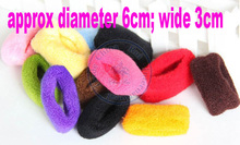 wide 3cm nice rubber Rope Elastic towel Girl's lady women kids Hair Ties Bands Headband Strap whcn+(China)