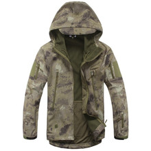 Lurker Shark Skin Softshell V4 Military Tactical Jacket Men Waterproof Windproof Warm Coat Camouflage Hooded Camo Army Clothing(China)